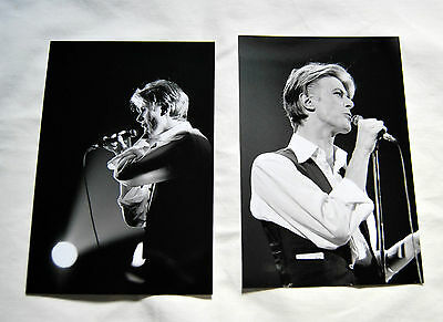 David Bowie 27 live photos 1976 L. A. Forum Thin White Duke Station to Station
