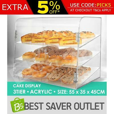 Cake Display Cabinet Large Bakery Muffin Donut Pastries Storage Acrylic Deluxe
