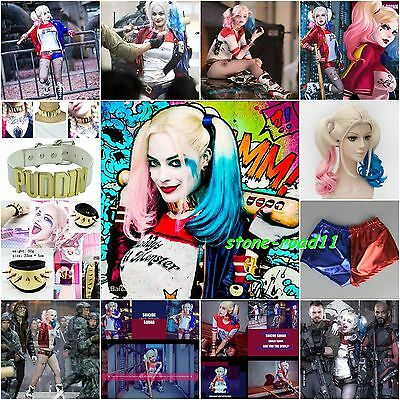 Harley Quinn Baseball Glove Lot Suicide Squad Costume Belt Holster Puddin Collar