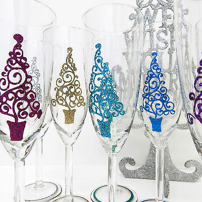 Christmas Office Party Gifts Personalised Champagne Glass & Gift Box