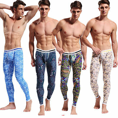 New Mens Thermal Underwear Cotton Trousers Leggings Long Johns Winter Warm Pants