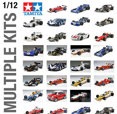 TAMIYA 1/12th CAR PLASTIC MODEL KIT BUILD YOURSELF - ALL TYPES AVAILABLE!