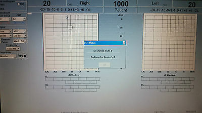 Siemens Unity1 PC Audiometer Inc TDH39/B71/Response switch/USB conn and software