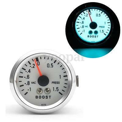 2'' 52Mm Chrome Auto Car Led Blu Manometro Strumento Turbo Boost Gauge 12V