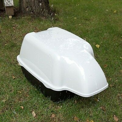 Cat Litter Tray Outdoor Waterproof Hood Outside Use Deep Tray Large Cats