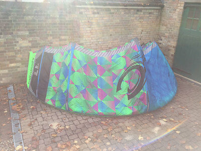 2015 Cabrinha 11m Chaos Kitesurf Kite + Bar - Used
