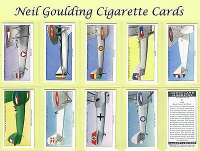 Lambert & Butler - Aeroplane Markings 1937 #1 to #50 Cigarette Cards