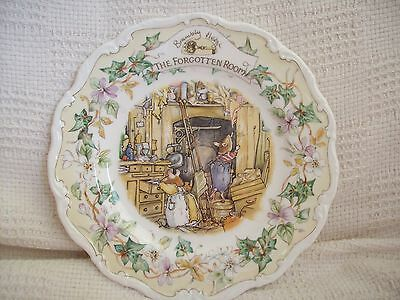 """Royal Doulton Brambly Hedge The Forgotten Room Plate 8"""" 1990"""