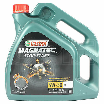 Castrol Magnatec 5W-30 A5 Fully Synthetic Engine Oil 4 Litres 4L