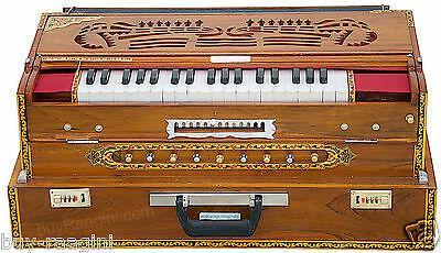 HARMONIUM No.6400tn/CALCUTTA/13 SCALE CHANGER/MAHARAJA/4 REED/TEAK/BOOK/BBH-02