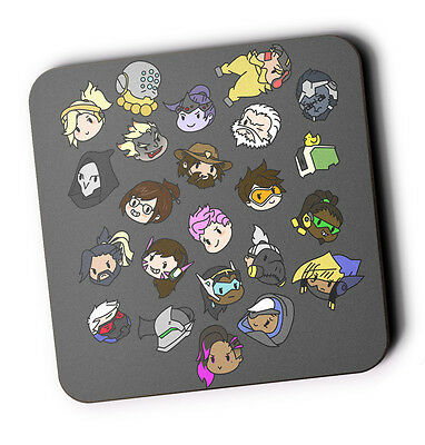 Overwatch Doodles Wood Coaster For Mugs/Cups Geeky Game