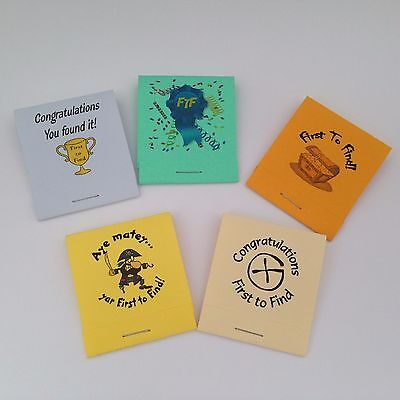 5 FTF Mini Notepads - Geocaching Swag