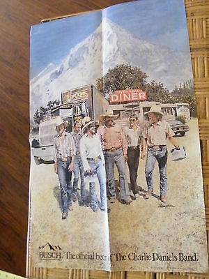 Charlie Daniels Band/Busch Beer In Store Promo Poster 1986