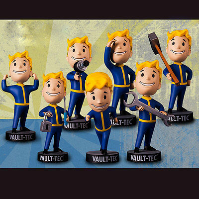 """Fallout 4 Vault Boy Figurine Mini Dolls Action Figure Game Character Toy 13cm/5"""""""