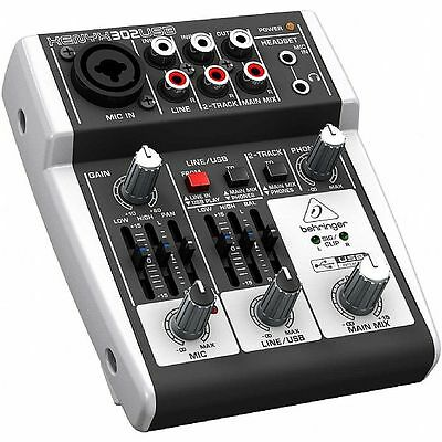 Behringer 302 USB Xenyx Mixer + Tracktion 4 Audio Production Software