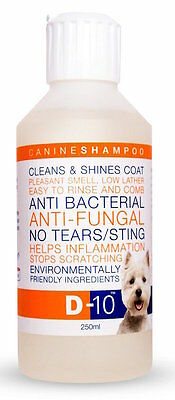 D-10 Dog Shampoo: Keep Your Dog's Skin and Coat Healthy; Anti-fungal / Bacterial