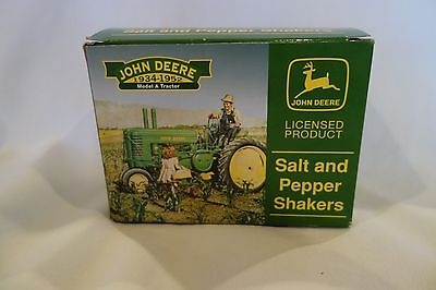 John Deere Metal Salt And Pepper Shakers - New In Box