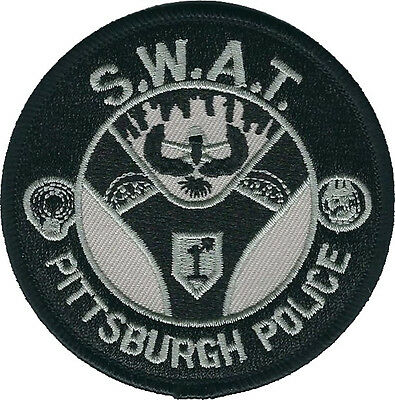 """Pittsburgh Police SWAT Subdued Pennsylvania Shoulder Patch - 3"""" Diameter - NEW"""