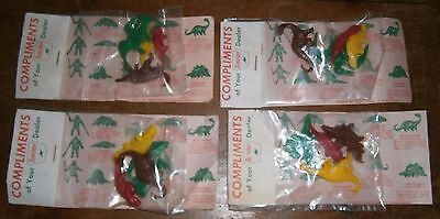 Lot of 4 Vintage Sinclair Gas Oil Promo Toy Dino Dinosaur Advertising Bags