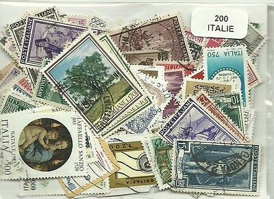 Lot timbres d'Italie