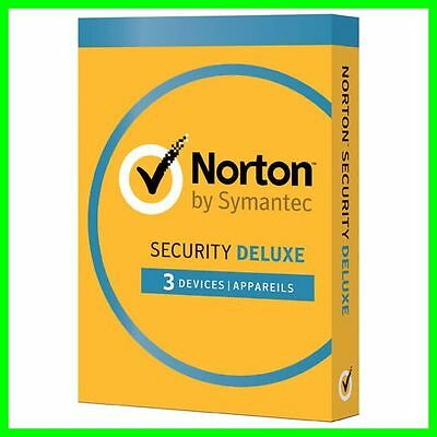 NORTON SECURITY 2016 / 2017 avec antivirus 1AN 3PC Boite d'origine CD non inclus