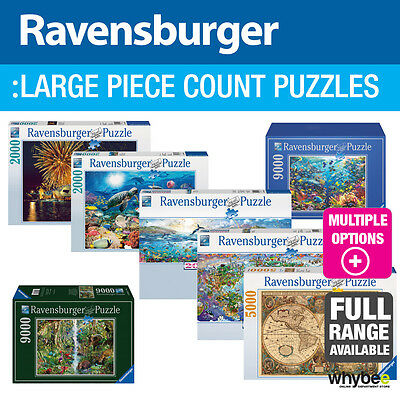 Ravensburger Large Piece Count Adult Jigsaw Puzzles - 17 designs to choose from!