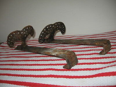 2 Antique Cast Iron Snow Birds Rusty Old Barn Find Steampunk Garden Decor