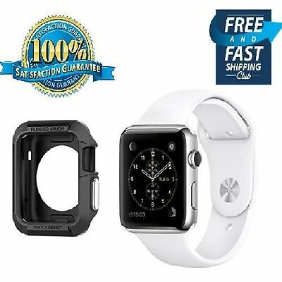 NEW Apple Watch Case Cover Protector 42mm iWatch Black Protective Bumper Rugged
