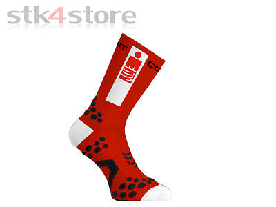 Calcetines Compressport Socks Bike V2.1 Ironman Talla 42/44 - Rojo