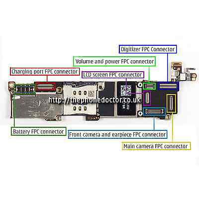 iPhone 5/5c/5s/5se Logic Board FPC Connector Repair Service