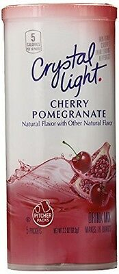 Crystal Light Cherry Pomegranate Drink Mix 62.3g makes 10 Quarts (PITCHER PACKS)
