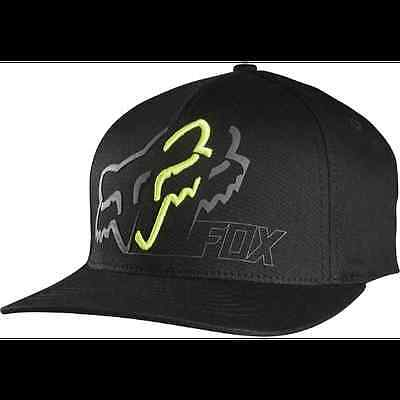 Fox Racing MENS WHITE KNUCKLED FLEXFIT HAT Black S/M