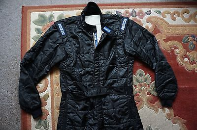 Sparco Nomex Black Race Suit Overalls, Size 58, Garage Car Rally F1 Track Kart