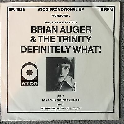 Jazz Rock 1968 ATCO EP Promo 45 Brian Auger & The Trinity - Red Beans & Rice mp3