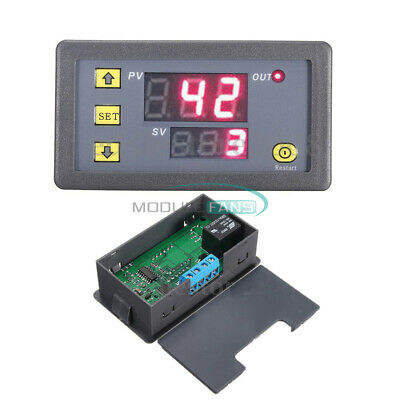 12V Cycle Timer Delay Dual Display Relay Module 0-999 hours/minutes/seconds MF