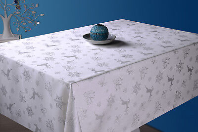 Deer Christmas Tablecloth - Customise your tablecloths - up to 5m - Oval, Rect.