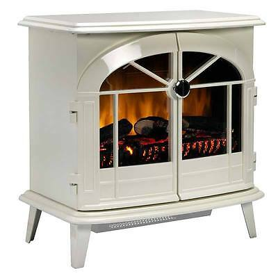 Dimplex Chevalier Electric Flame Effect Stove with Optiflame in Cream, 2kW