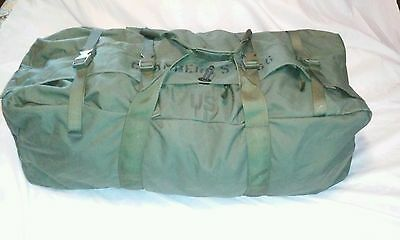 Military Issue Improved Duffle Bag With Zipper And Backstraps  Army Surplus