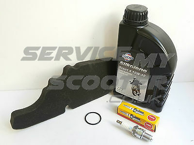 Genuine Piaggio Fly 50 4T 05-15 Service Kit, Oil, Spark Plug, Air Filter