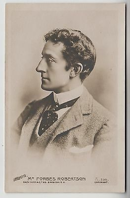 POSTCARD - Forbes Robertson, Edwardian stage theatre actor in profile
