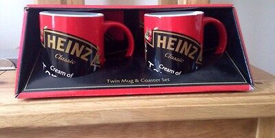 Heinz Soup Duo Mug Set & Coasters  - Brand New In Box