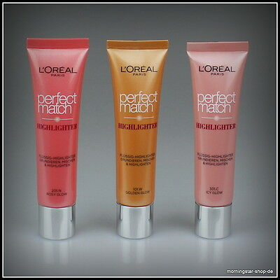 Loreal 3in1 Flüssig Highlighter Make-Up Foundation Perfect Match L'Oreal