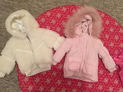 BEBE BY MINIHAHA BABY TODDLER WINTER COAT JACKET Girls JUMPER x 2 - SIZE 1