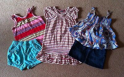 Girls Gap Summer Bundle Dress Tops Shorts Denim Skirt Age 3 years Excellent Con