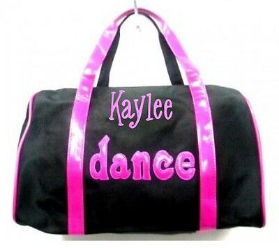 PERSONALIZED Black & Hot Pink DANCE Tote Bag Duffel Free Shipping