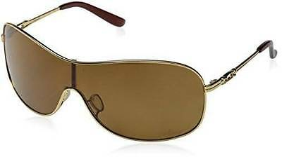 New Oakley Collected Sunglasses Polished Gold/Bronze Polarized Shield / Women's