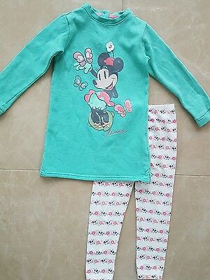 Marks and Spencer Minnie mouse girl's fleece top and leggings set 4-5 years