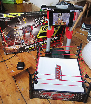 WWE Flex Force Money in the Bank Ring Mattel Lights Sounds Boxed Wrestling