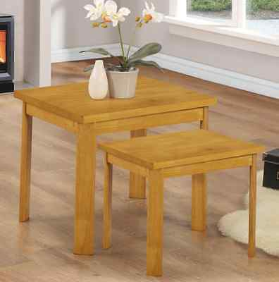 York Nest of Tables Natural – Set of 2 Tables