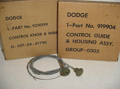 WWII Dodge Military 1/2 3/4 Ton WC Truck Choke or Throttle Cable NOS